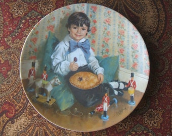 JUST REDUCED By 30%, Little Jack Horner Decorative Plate, Limited Edition, Reco,  Bradex, 1982, Baby Shower Nursery Gift