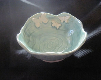 Porcelain Butterflies Three pinched dish Catch all