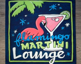 Flamingo Martini Lounge Painting