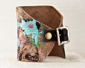 Casual Leather Cuff Bracelet - CYBER MONDAY Hand Painted Jewelry - Unique Gift Idea, Women's Fashion