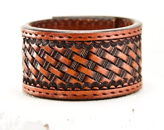 Leather Cuffs Jewelry Wrist Bands Bracelets - Etsy Love Handmade Finds - Women's Fashion Gift