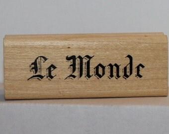 Le Monde Rubber Stamp