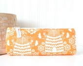 Orange Floral Bee Hive Pencil Case Green Pencil PouchOrange Purse Organizer