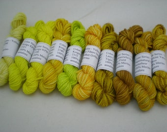 Mini Skeins - Color Series - Yellows - 5 g set of 10 (set 1)