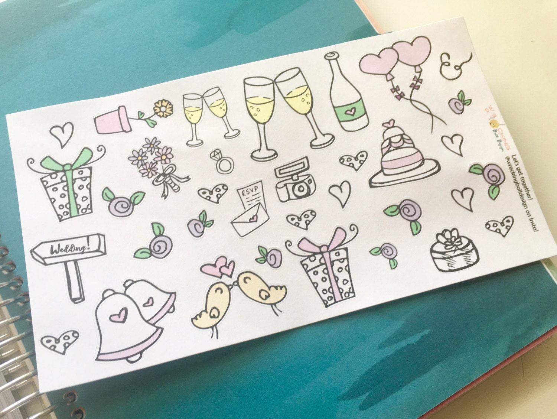 Wedding Doodle Decorative Stickers