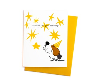 Happy Birthday Beagle Card, Howling Beagle Funny Birthday Card