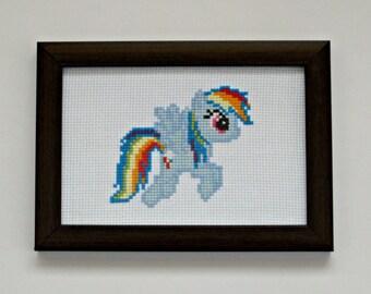Rainbow Dash (My Little Pony: Friendship Is Magic) - Cross Stitch Pattern