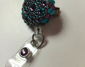 Pretty Royal Colors Badge Holder