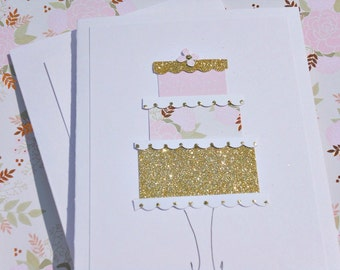 Wedding Cards - Wedding Cake Cards - Bridal Shower Cards - Cards for Bride and Groom - Birthday Cake Cards - Floral Wedding Cards - wc12