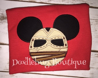 Rey Mickey Mouse Star Wars shirt with name
