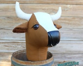 """Stick Bull Rodeo Collection """"Grahm"""" Ride on Bull Stick Horse Toy Bovine Cow MADE TO ORDER"""