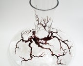 Cherry tree decanter -- hand painted decanter