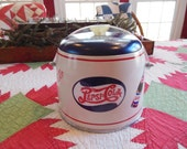 Great Fun For The Man Cave ~ Vintage Pepsi Cola Decaled Ice Bucket ~ One of a Kind!