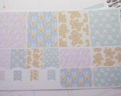 Christmas Planner Stickers Candy Canes Reindeer Gingerbread Men and Treesrts Plum Paper Planners PS244 Fits Erin Condren Planners