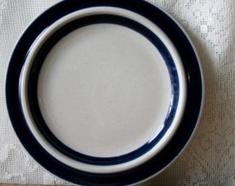 """Vintage Arabia Finland Bread Plates X4 Ulla Procope Anemone 6 3/8"""""""