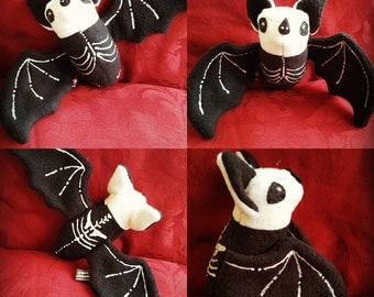 X-ray the Skeleton plush Bat plushie - Halloween - goth - nightmare before Christmas