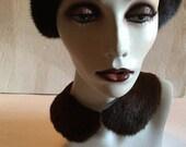 Vintage SALLY GEE Japan Mink Fur Collar