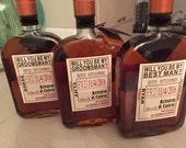 Will you be my Groomsman - Wedding Groomsman Liquor Labels - Will you be my Best Man Labels - Groomsmen Labels - liquor decanter labels