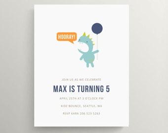 monster party birthday invitation set // baby shower invitation // monsters inc // little monster // note card // balloon // baby shower