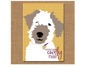 Dog Magnet, Happy Dog Magnet, Dog Fridge Magnet, Dog Lover Gift, Tie, Graduation Gift, Pet Lover Gift, Embrace Curly Hair, Gift for Teen