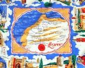 Vintage Handkerchief, Maroc Souvenir Hankie, Morocco