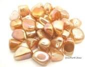 Orange Aura Rose Quartz, crystals, Reiki, Feng Shui, Orange, Large, Crystal Grids, Wire Wrapping