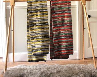 Knitted Lambswool Fairisle Scarf