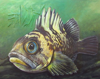 Original acrylic painting - 43 X 56 inches - Rockfish