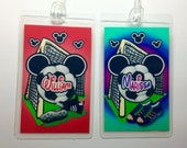 Disney Luggage Tag - Soccer Personalized MICKEY MOUSE Luggage Tags  Laminated 10mil - You pick the Number you want CUSTOM