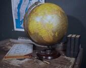 Rare 1930s Crams Unrivaled Terrestrial World Globe / Vintage World Globe
