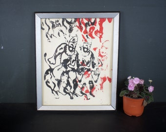 Mid Century Abstract Art Print / Robert W Redmond