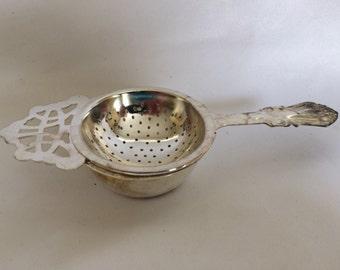 Pretty Silver Plate Tea Strainer