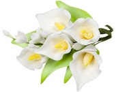 Calla Lily Gum Paste Flower Spray for Weddings and Cake Decorating - Ships Insured!