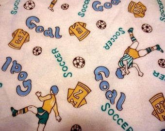 "14"" x 96"" Soccer Flannel"