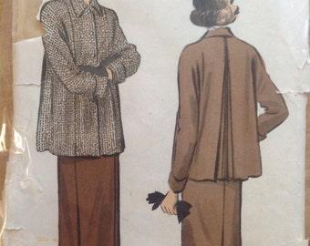 Vintage Advance Pattern 5245 Women's Jacket and Skirt • size 16