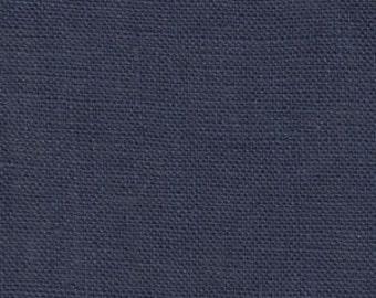Solid color linen drapes, navy blue linen curtain panels, rod pocket panels