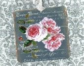 Tags, Roses, Chalkboard Tags, French Style, Gift Tags