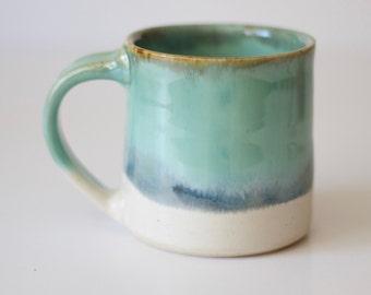Coffee Mug / Tea Cup / Hot Chocolate Mug / 12 Ounce Mug / Nuka Green Mug