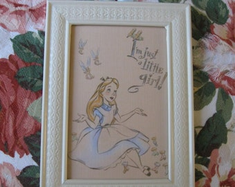 Alice in Wonderland Framed Print 4x6
