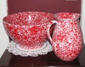 Beautiful Italian ceramic pitcher and basin set