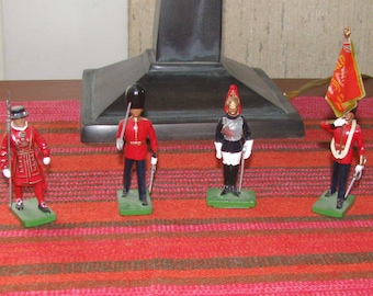 Vintage British collectible toy soldiers