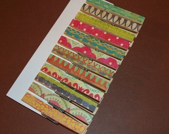 Boho Clothespins-Set of 12-Doublesided and Sealed