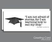 Alcott Quote Card, graduation card, college graduation, high school grad, inspiration quote, congratulations, Little Women, literature quote