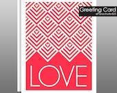 Love Card, Valentine Card, Anniversary Card, Sweetest Day Card, I Love You Card, New Baby Card, Baby Congratulations, blank card, typography