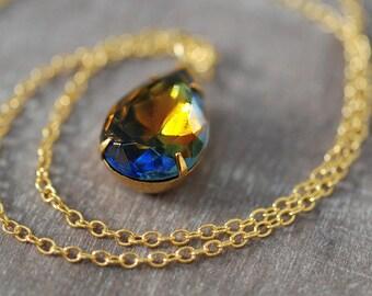 Crystal Drop True Vintage Necklace