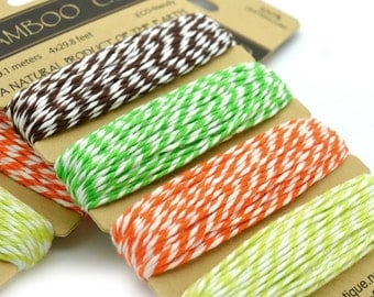 Bamboo Cord, BakersTwine, Party Twine, Gift Wrap,  Bamboo Baker Twine -HC50