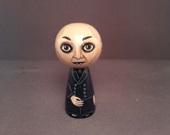 Nosferatu Vampire Count Orlok Kokeshi Doll