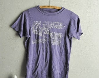 Vintage Threadbare Super Soft University Of Washington Dawgs Worn Purple Girls TShirt