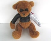 Large Winter Soldier Bucky Bear, altered bear stuffed toy