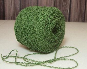 Green Cotton Blend Yarn, Kitchen Type Yarn, Dish Cloths, Crochet, Knit, BIN 4